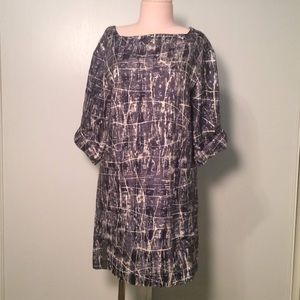Anthropologie Quarry Silk & Wool Printed Dress  XS